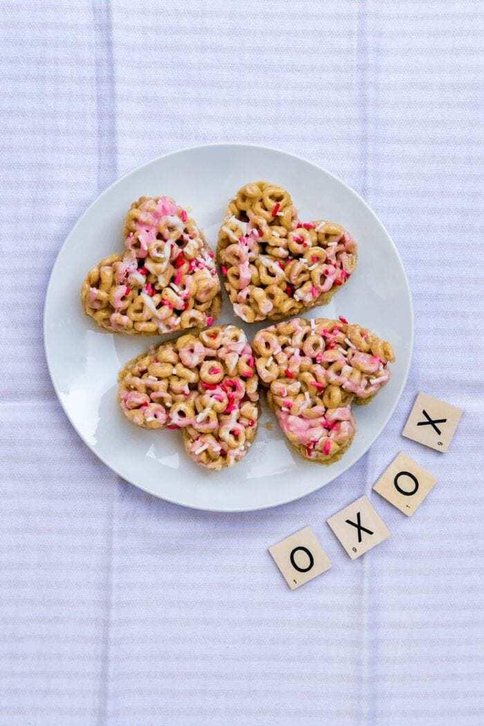 Honey Nut Cheerios Heart Shaped Treats